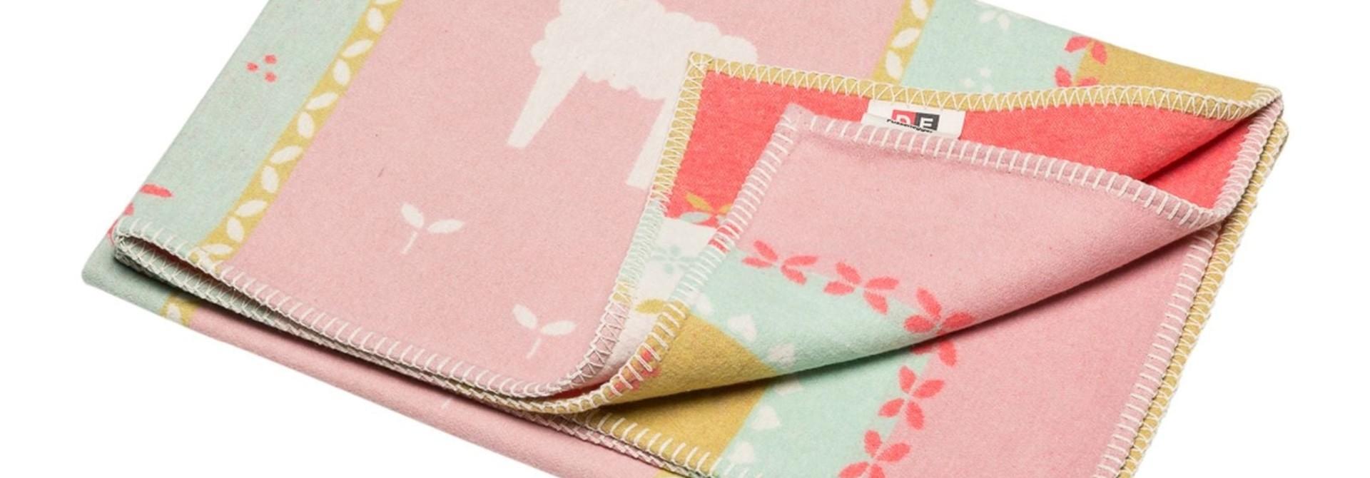 Blanket - Llamas - Rose