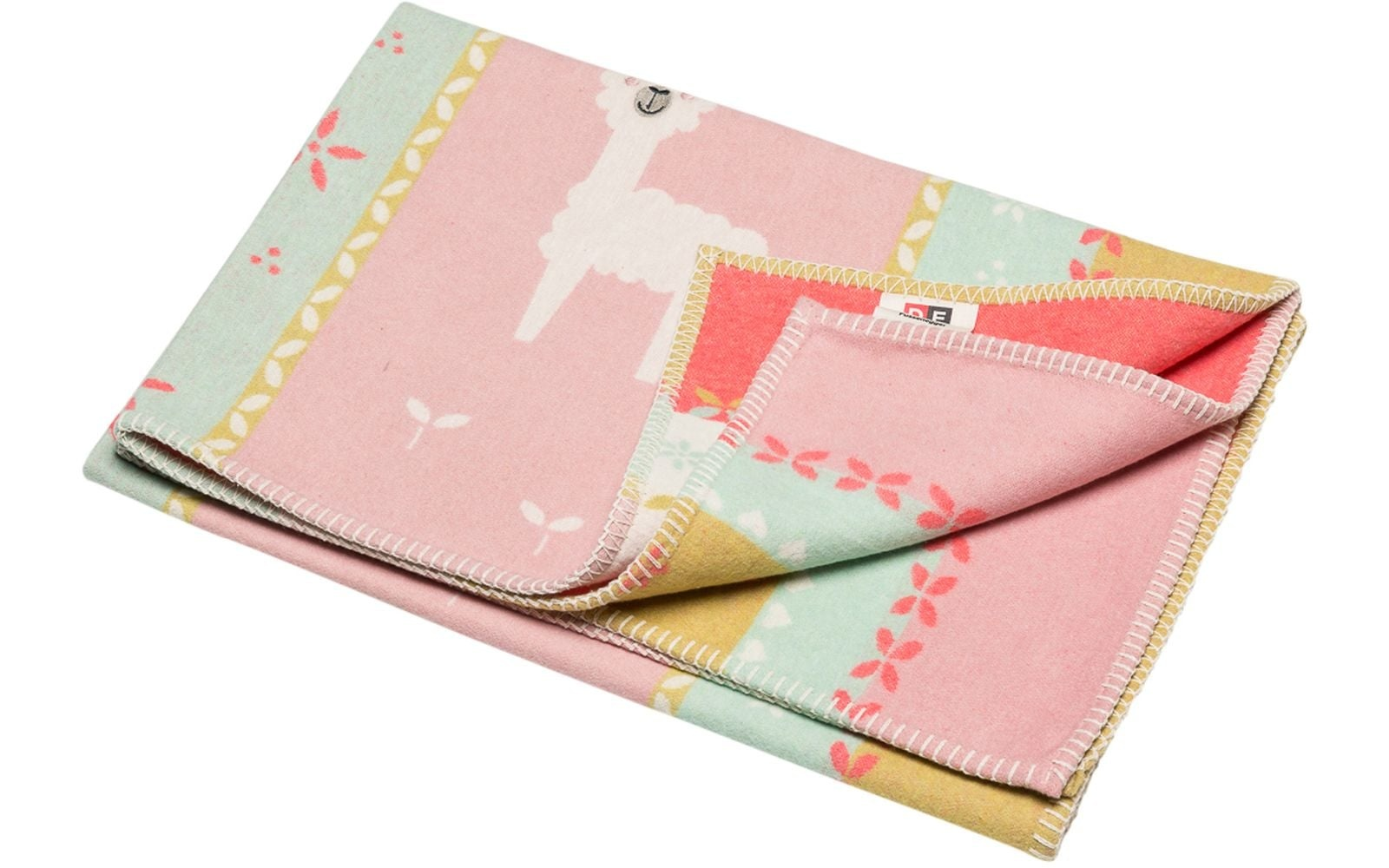 Blanket - Llamas - Rose-1
