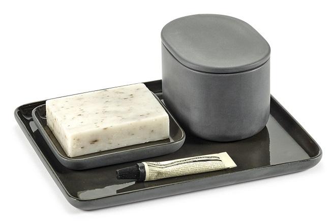 Oval Box w/Lid - Cose - Dk Grey-2