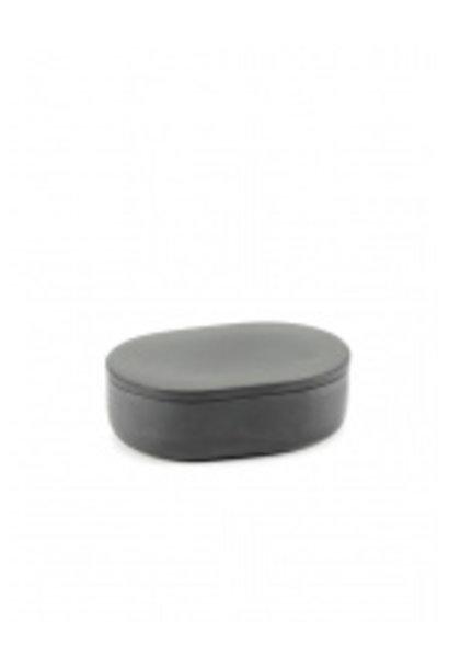 Oval Box w/Lid (Sm) - Cose - Dk Grey