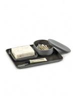 Oval Box w/Lid (Sm) - Cose - Dk Grey-2