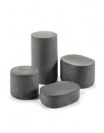 Oval Box w/Lid (Sm) - Cose - Dk Grey-3