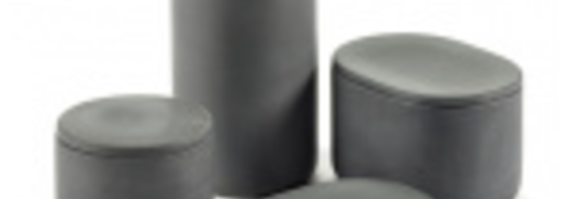 Round Box w/Lid - Cose - Dk Grey