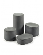 Round Box w/Lid - Cose - Dk Grey-1