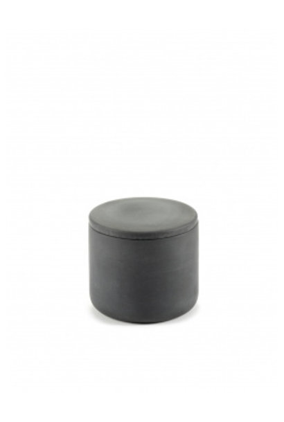 Round Box w/Lid ( Sm) - Cose - Dk Grey