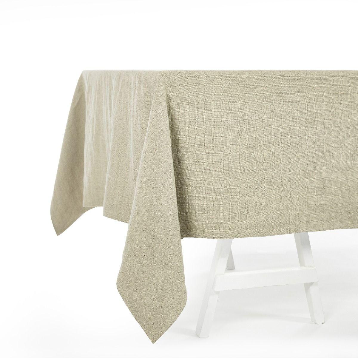 Tablecloth - Hudson - Flax-1