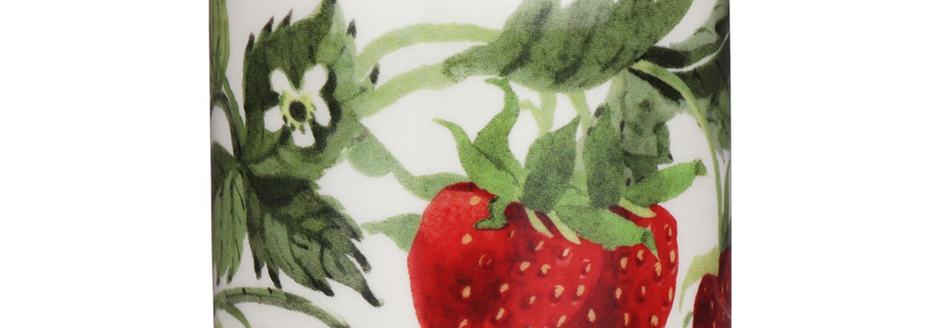Jam Jar - Strawberries - w/Lid