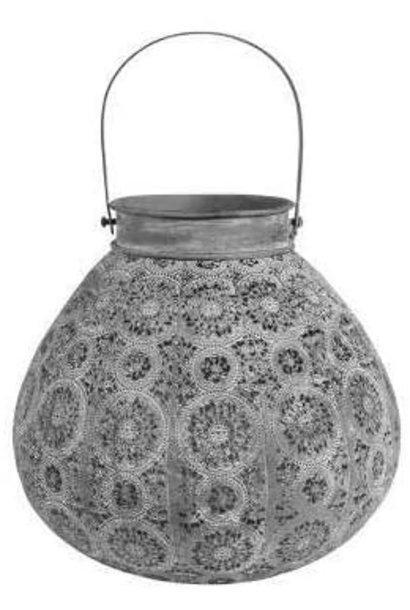 Lantern - Round  - Pale Grey