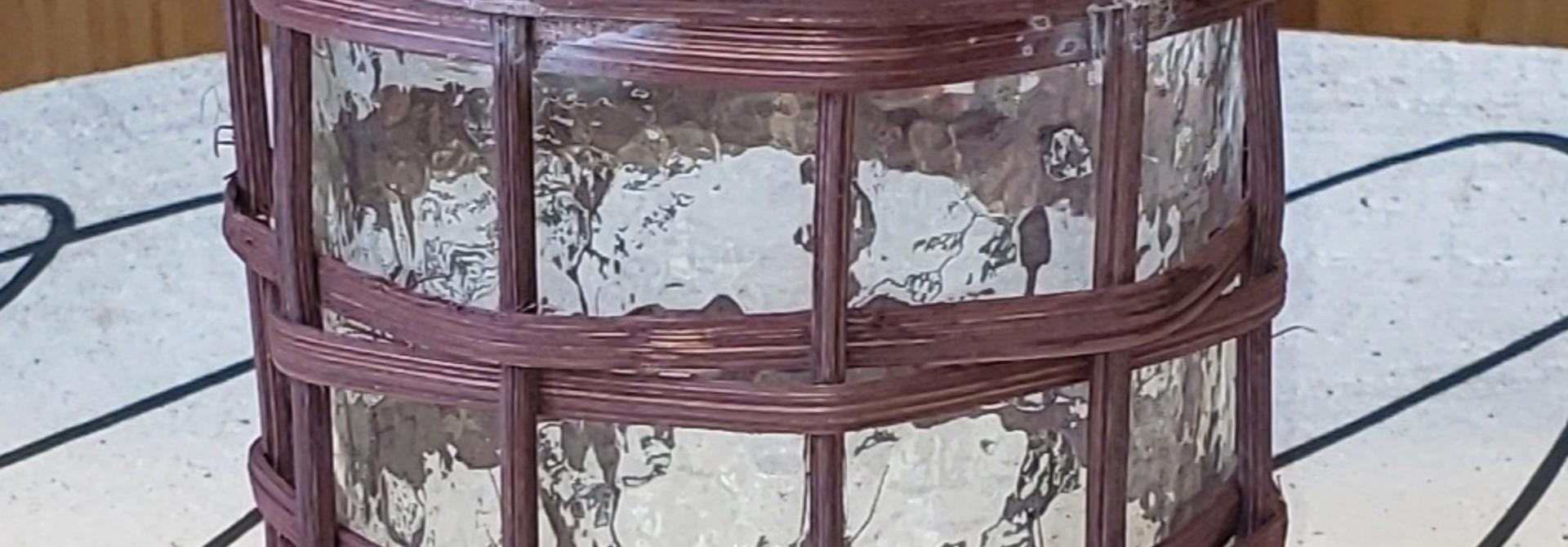 Lantern - Bamboo - Brown
