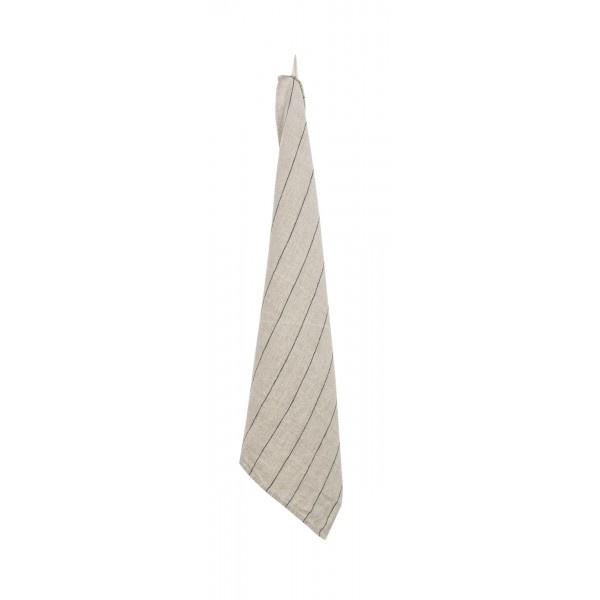 Tea-Towel - Calvi - Natural w/stripe-1