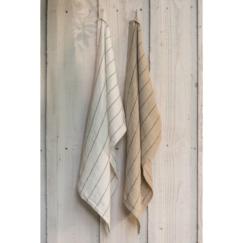 Tea-Towel - Calvi - Natural w/stripe-2