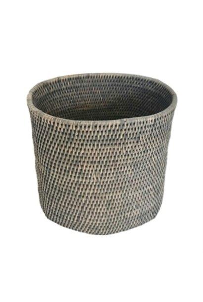 Oval Waste Basket - Grey