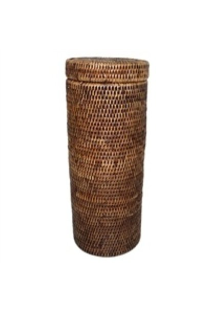 Tall Toilet Paper Holder w/lid