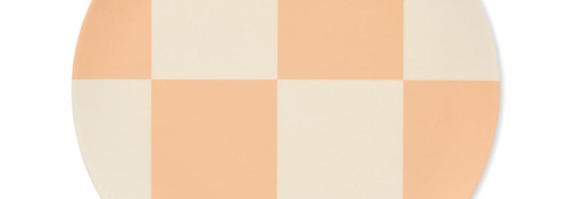 "Plate -  Apricot Check - 8"""