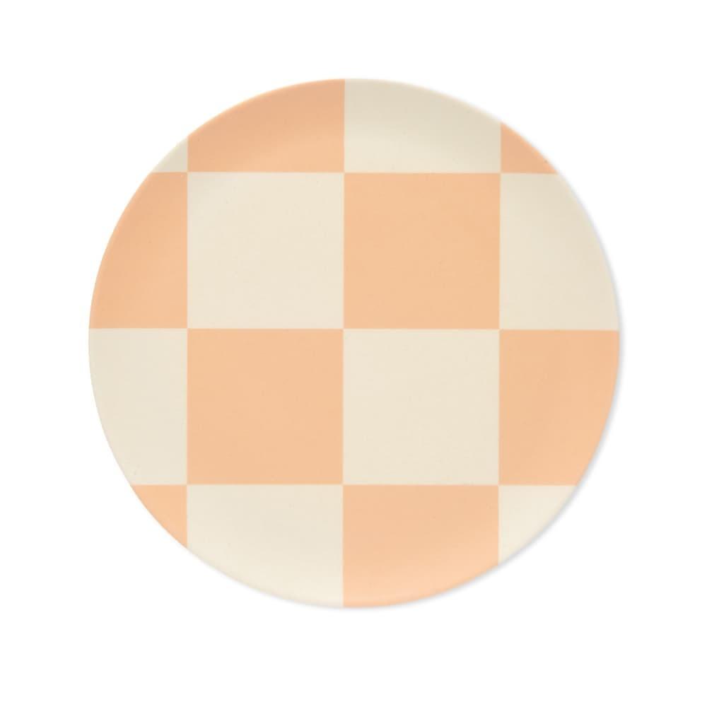 "Plate -  Apricot Check - 8""-1"