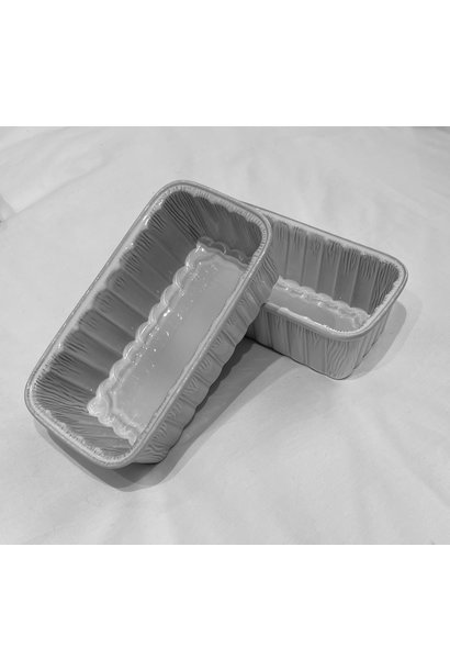 Feston Oven Dish - Fluted Loaf - White