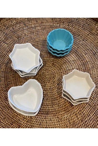 Baking Dish Mini - Heart - White