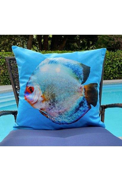 Outdoor Cushion - Miss Blue - Turq
