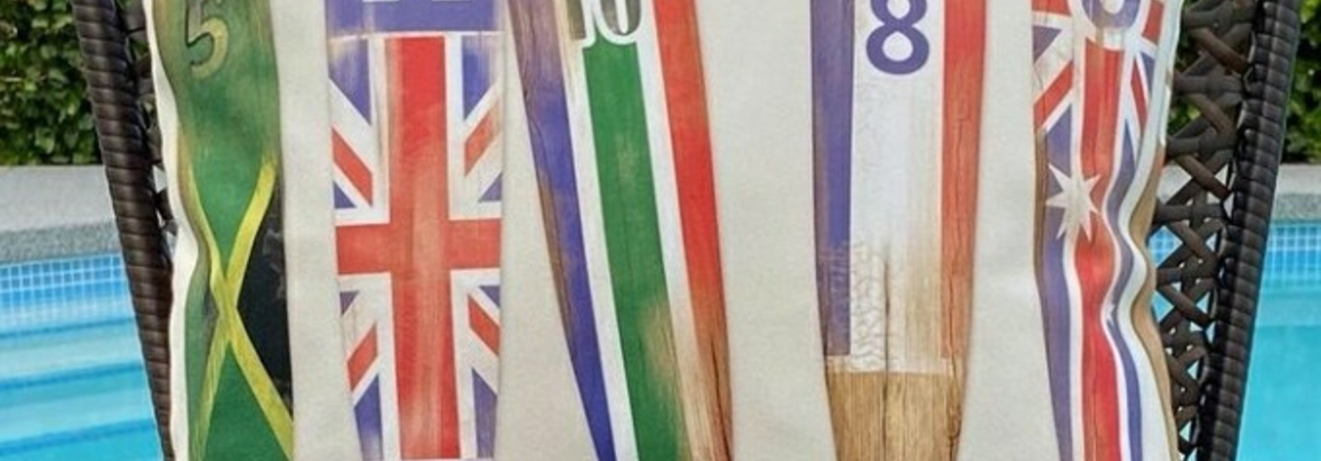 Outdoor Cushion - Oars/flags