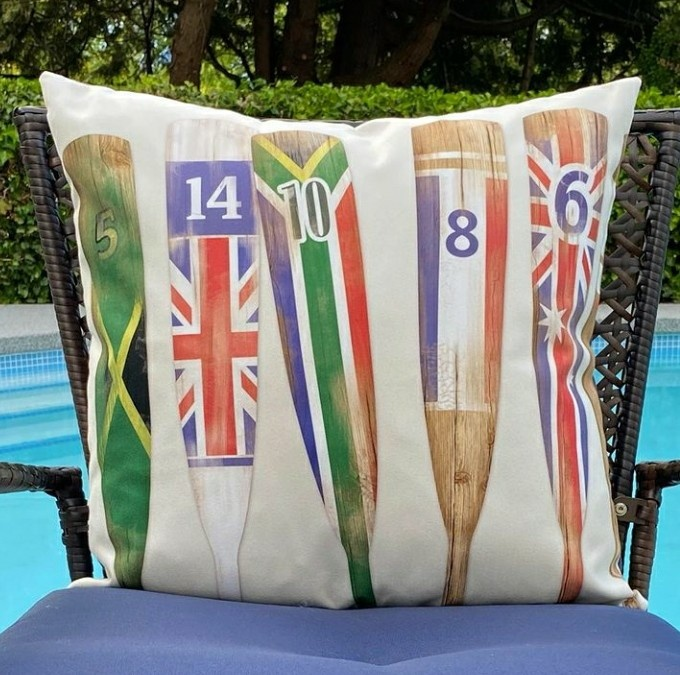 Outdoor Cushion - Oars/flags-1