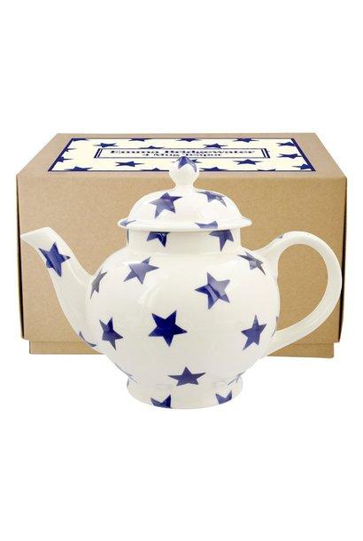 Teapot - 4 Mug - Blue Star