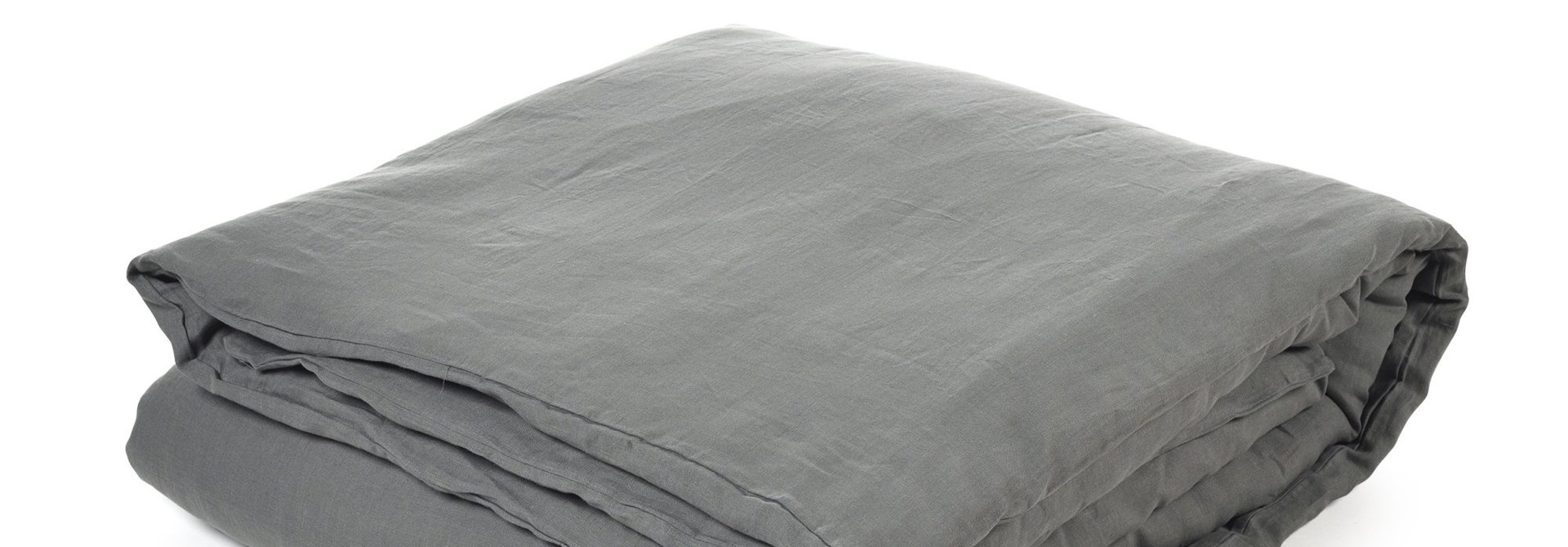 Duvet Cover - Santiago  - Dk Grey -  + Fitted Sheet - King