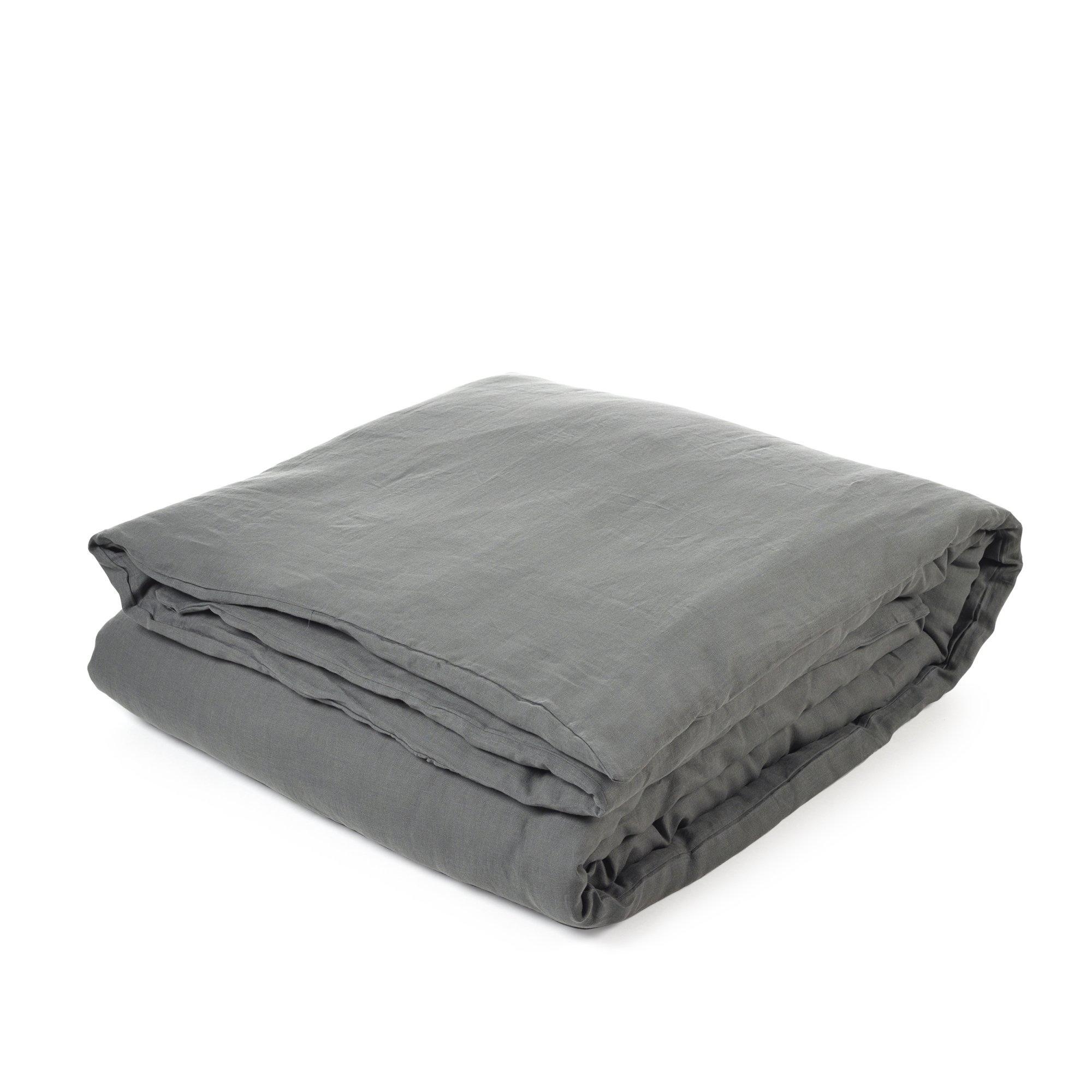 Duvet Cover - Santiago  - Dk Grey -  + Fitted Sheet - King-1