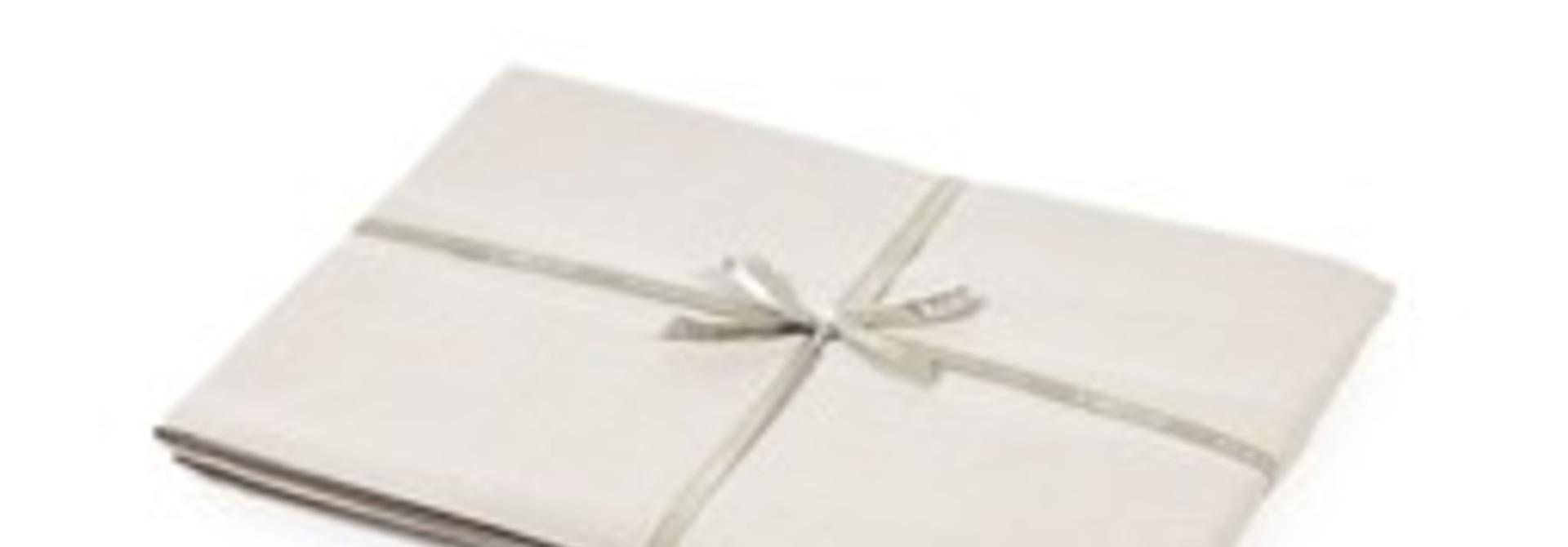 Flat Sheet - Santiago - Light Grey -  Queen