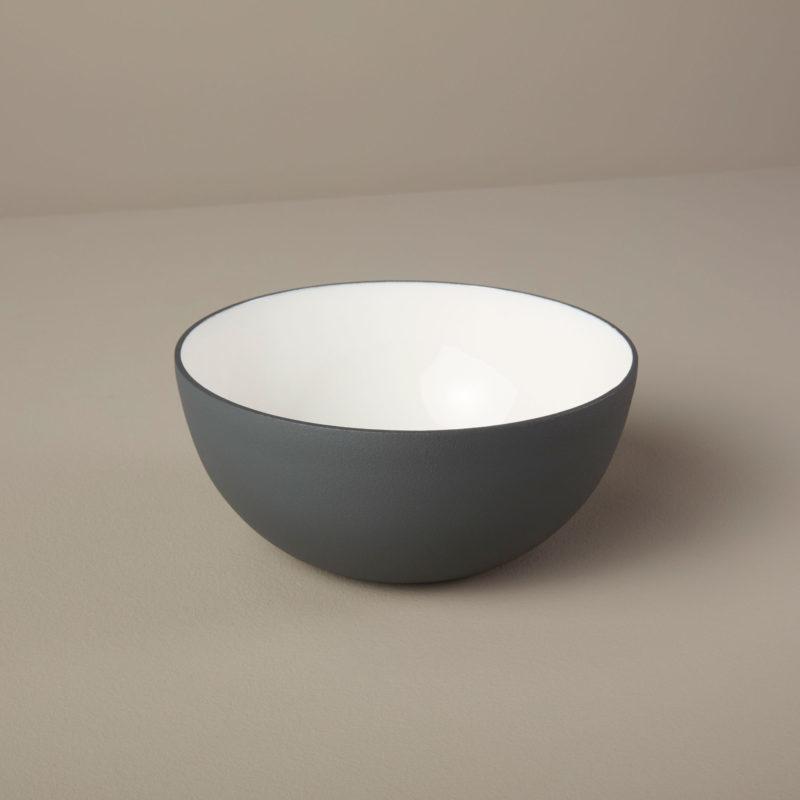 Aluminum & Enamel Bowl, Small-1