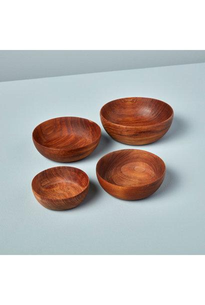 Teak Nesting Bowls, Set of 4
