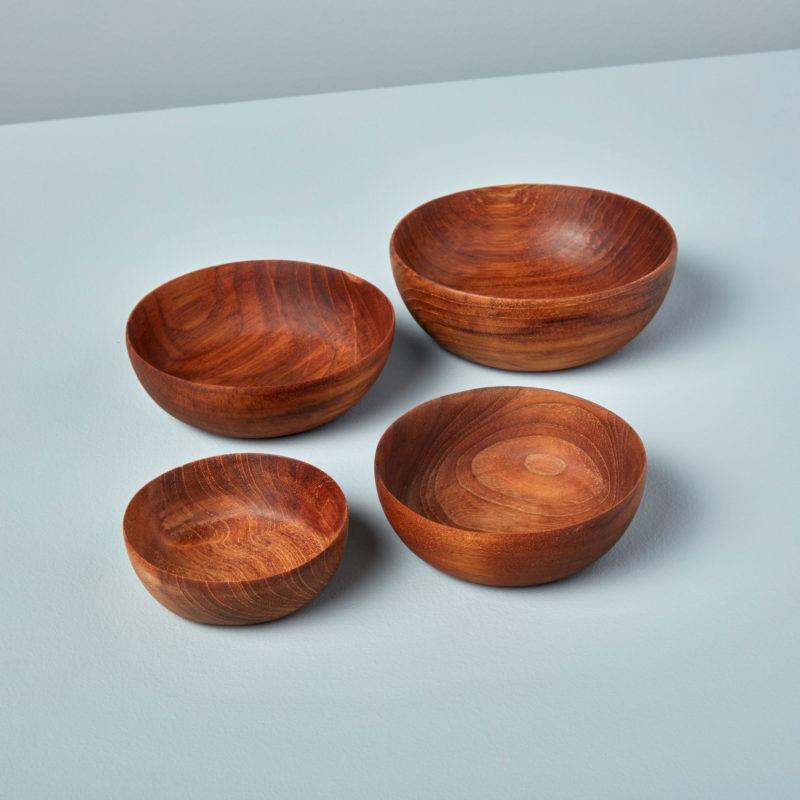 Teak Nesting Bowls, Set of 4-1