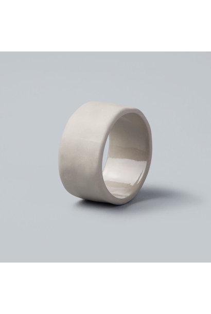Stoneware Napkin Ring - Sterling