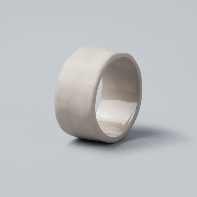 Stoneware Napkin Ring - Sterling-1