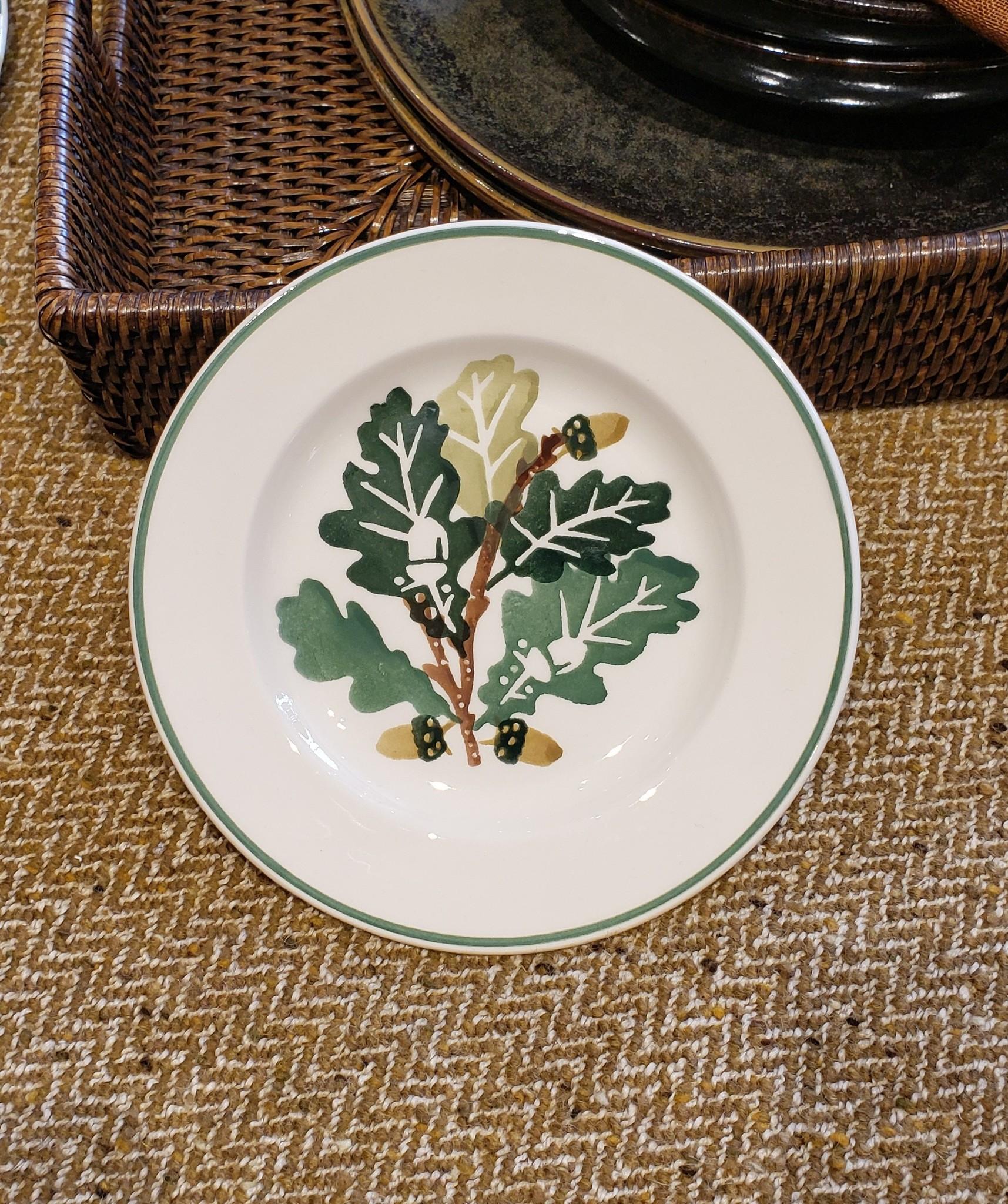 """Plate - Oak - 6.5""""-1"""