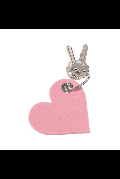 Key Fob - Heart - Rocksalt