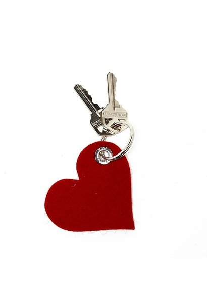 Key Fob - Heart - Red