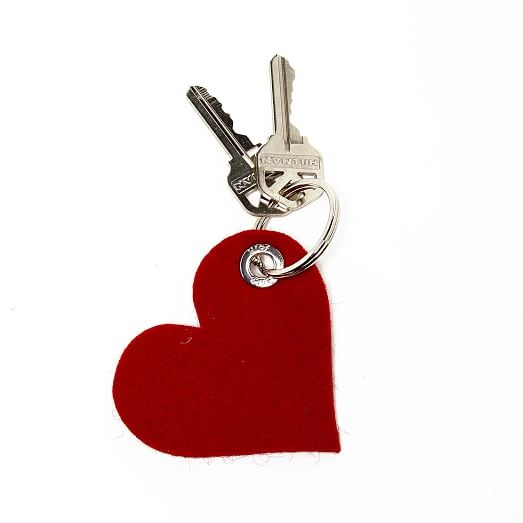 Key Fob - Heart - Red-1
