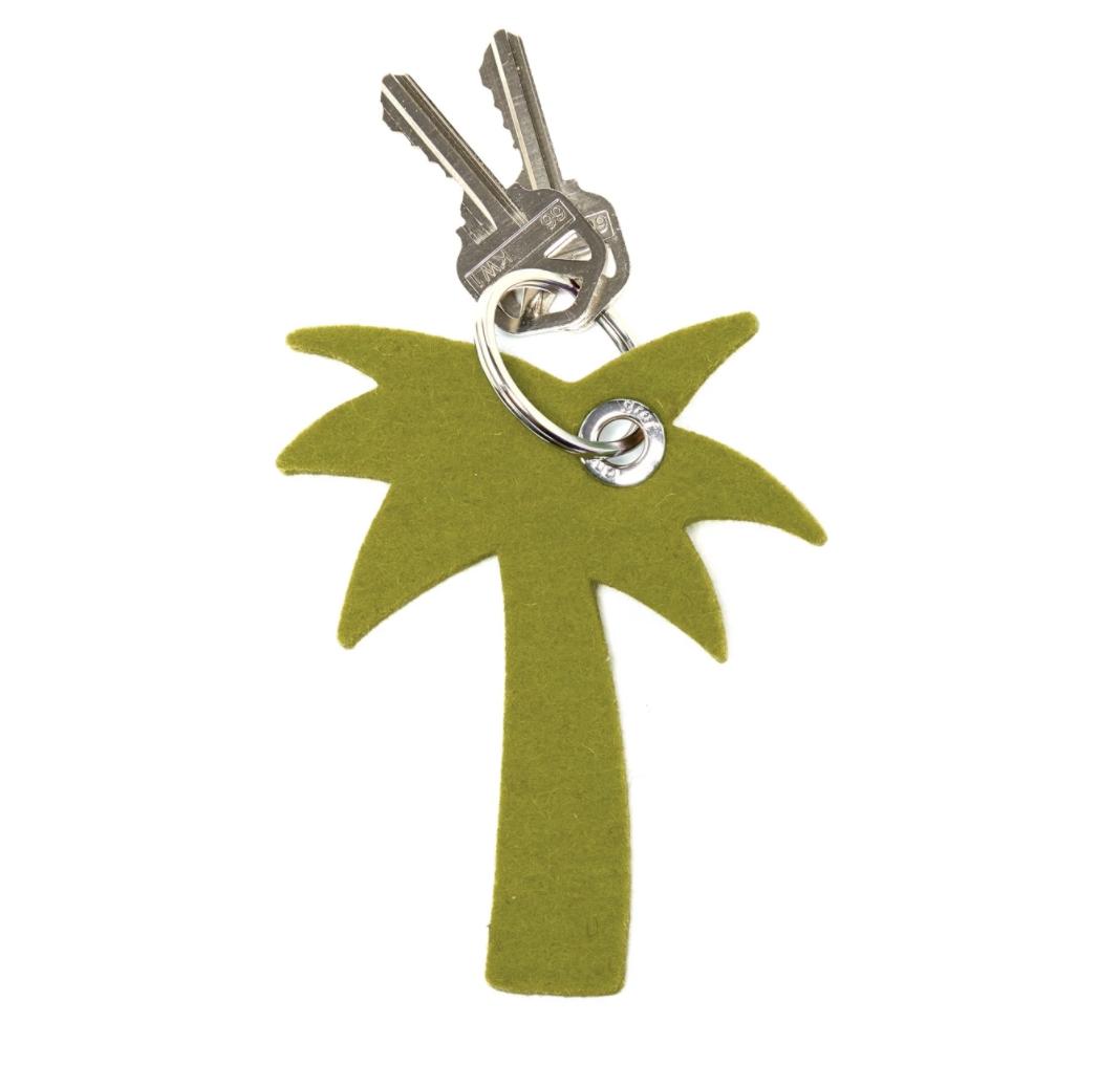 Key Fob - Palm Tree - Pistachio-1