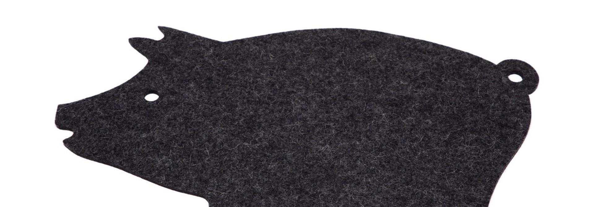Trivet - Pig - Charcoal