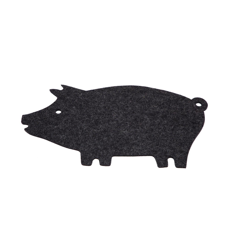 Trivet - Pig - Charcoal-1