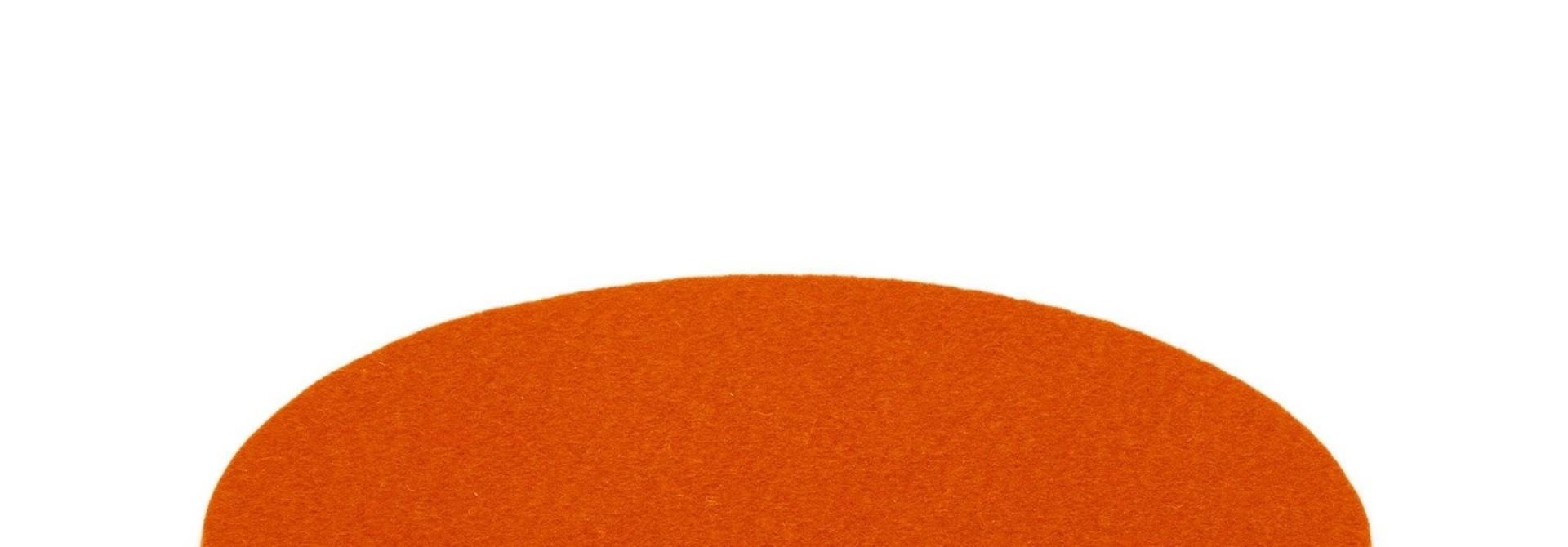 "Trivet -Round - Orange - 10"""