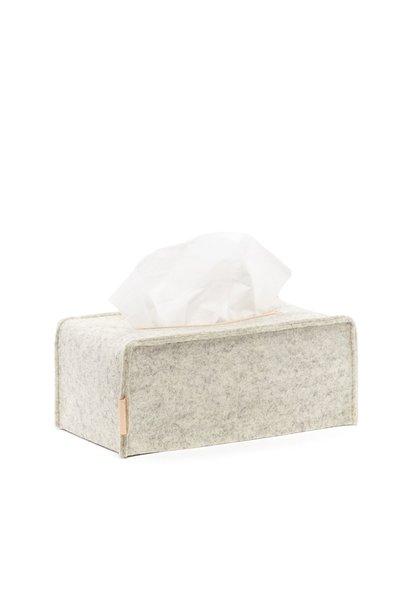 Felt Tissue Box - White Heather - Large