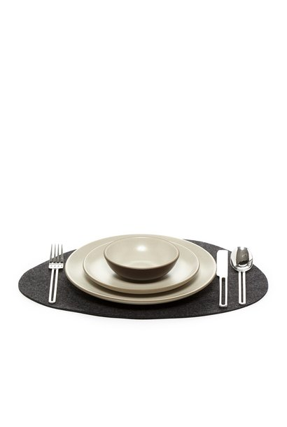 Placemat - Stone - Charcoal