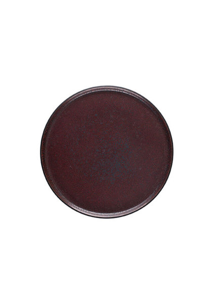 Plate - Tout Simple - M - Rouge Cinnebar