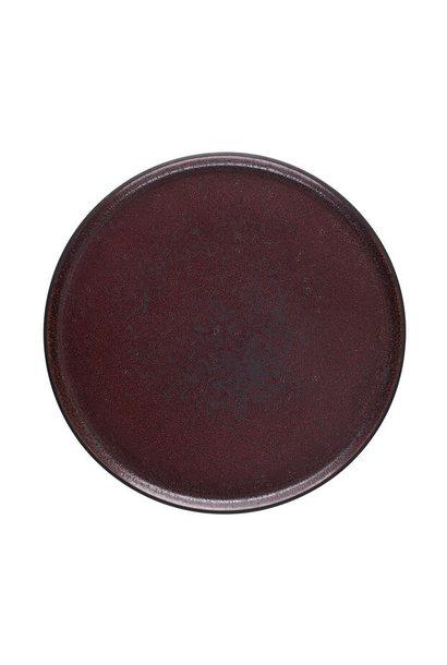 Plate - Tout Simple - L - Rouge Cinnebar