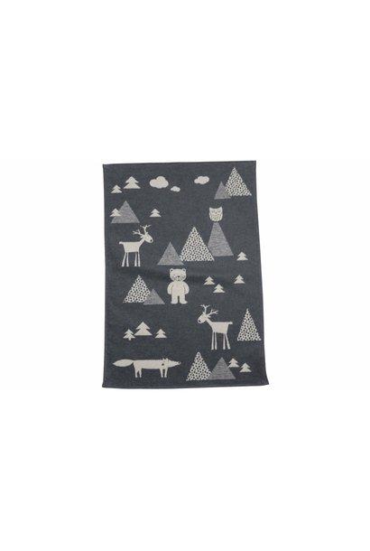 Baby Blanket - Kids in the Woods - Grey