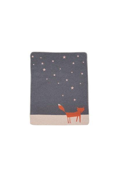 Baby Blanket - Fox/Stars - Grey