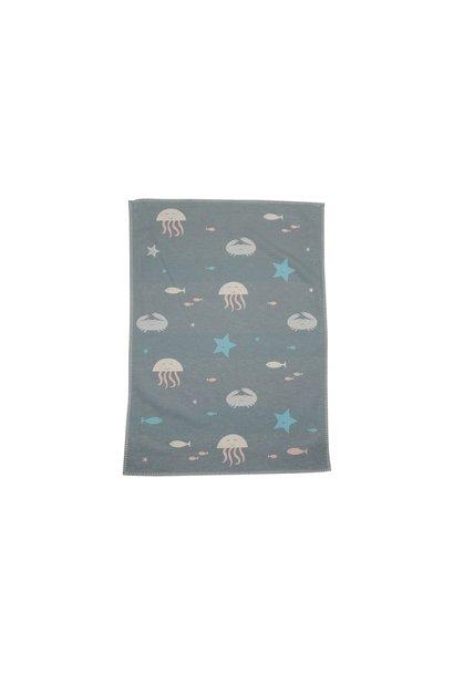 Child's Blanket - Under The Sea - Lt. Green