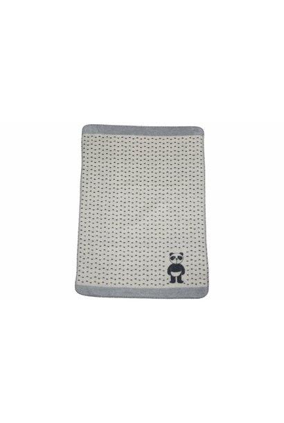 Child's Blanket - Panda in Diaper - Off White
