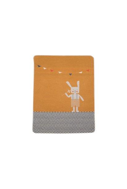 Baby Blanket - Bunny - Gold